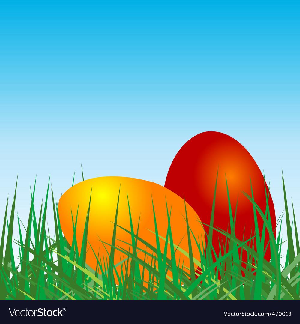 Colored eggs vector | Price: 1 Credit (USD $1)