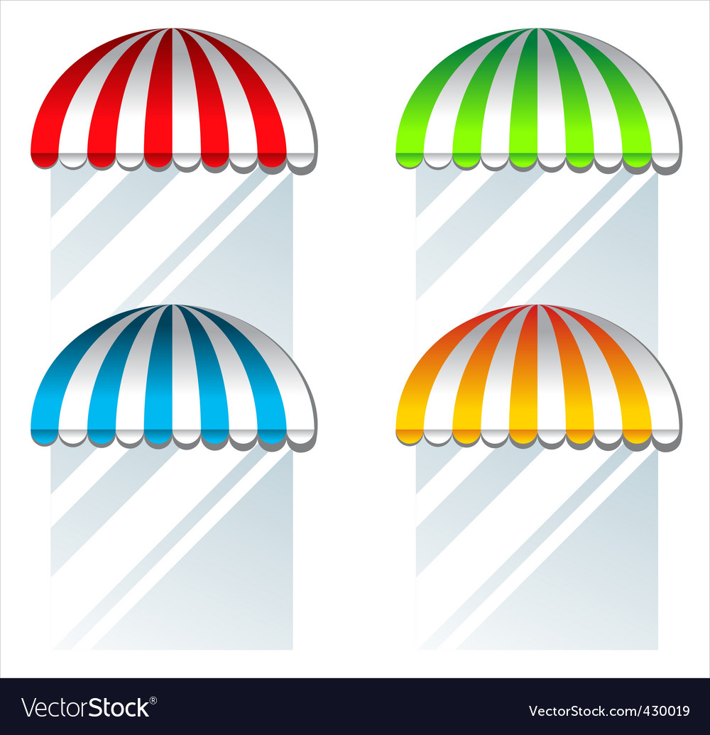 Coloured awnings vector | Price: 1 Credit (USD $1)