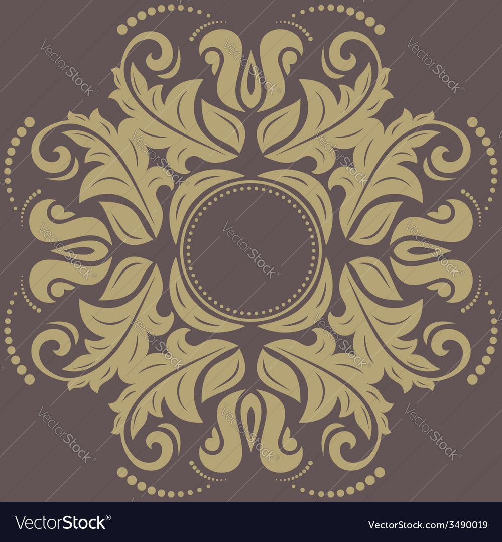 Damask pattern orient background vector | Price: 1 Credit (USD $1)