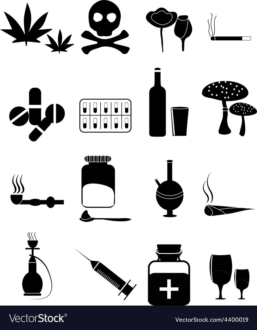 Drugs icons set vector | Price: 3 Credit (USD $3)