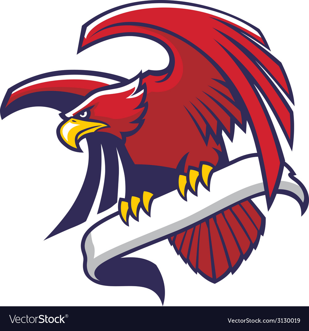 Eagle hold a sign vector | Price: 1 Credit (USD $1)