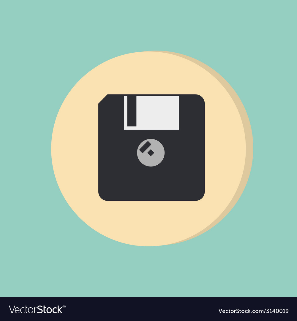 Floppy diskette symbol store information document vector | Price: 1 Credit (USD $1)