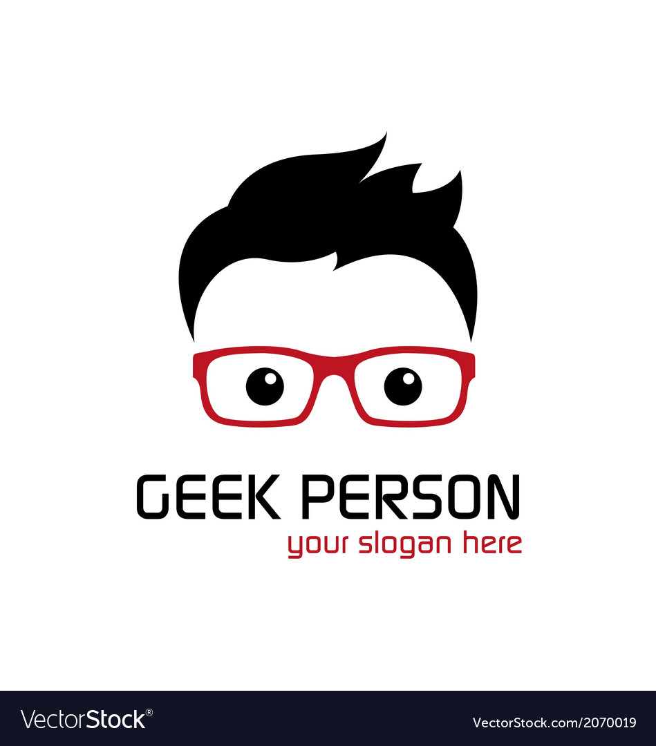 Geek person vector | Price: 1 Credit (USD $1)