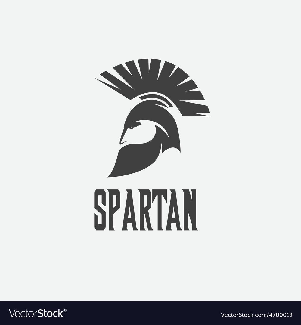 Old vintage antiques spartan warrior design vector | Price: 1 Credit (USD $1)