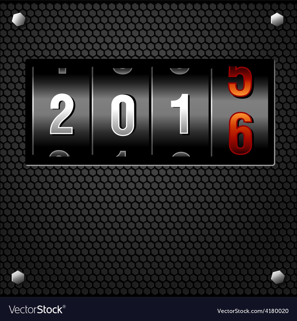 2016 new year analog counter vector | Price: 1 Credit (USD $1)