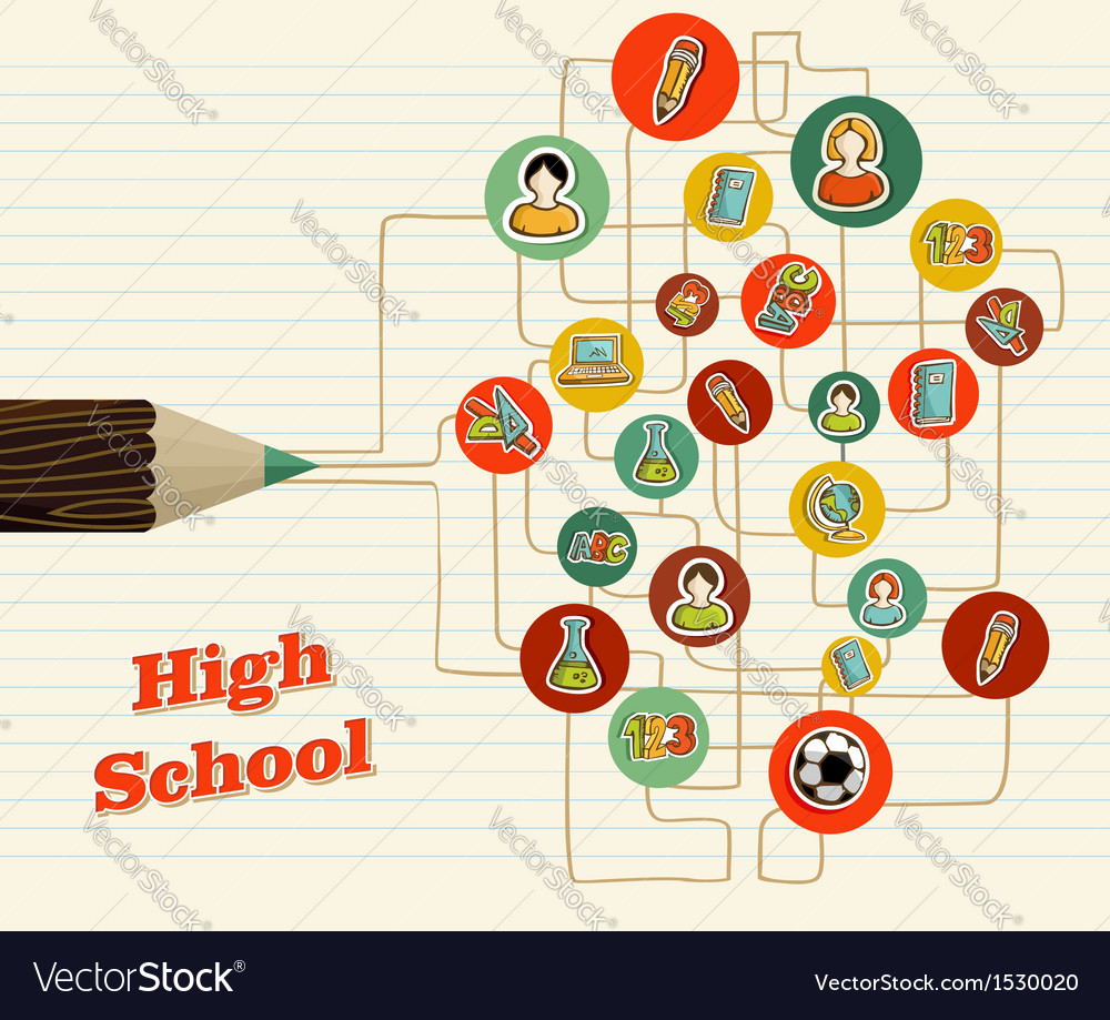 Back to school icons education pencil vector | Price: 1 Credit (USD $1)