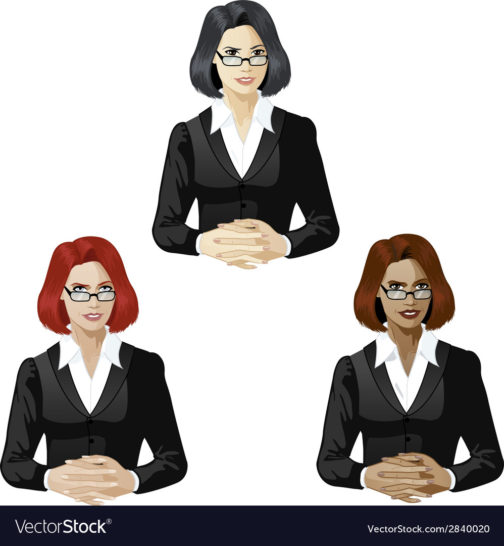 Female lawyer support expert vector | Price: 1 Credit (USD $1)