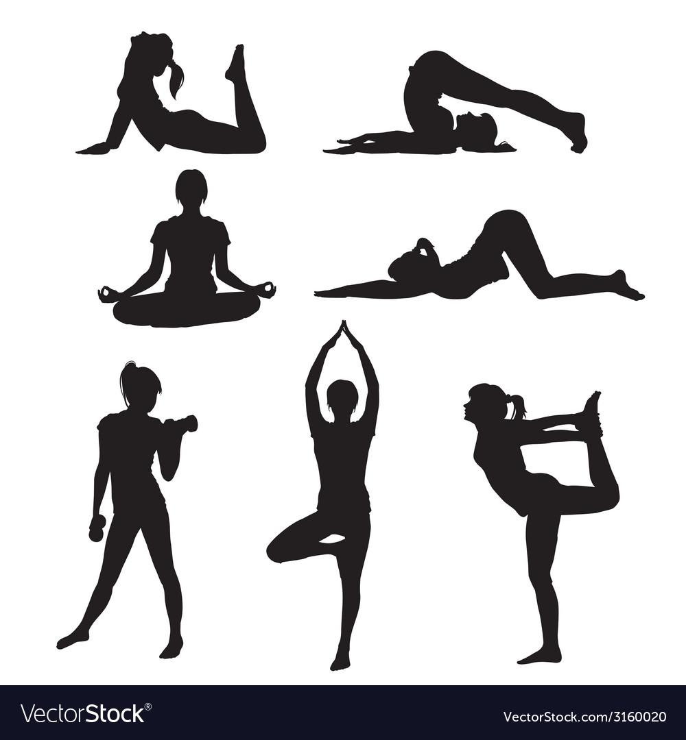 Girl yoga vector | Price: 1 Credit (USD $1)