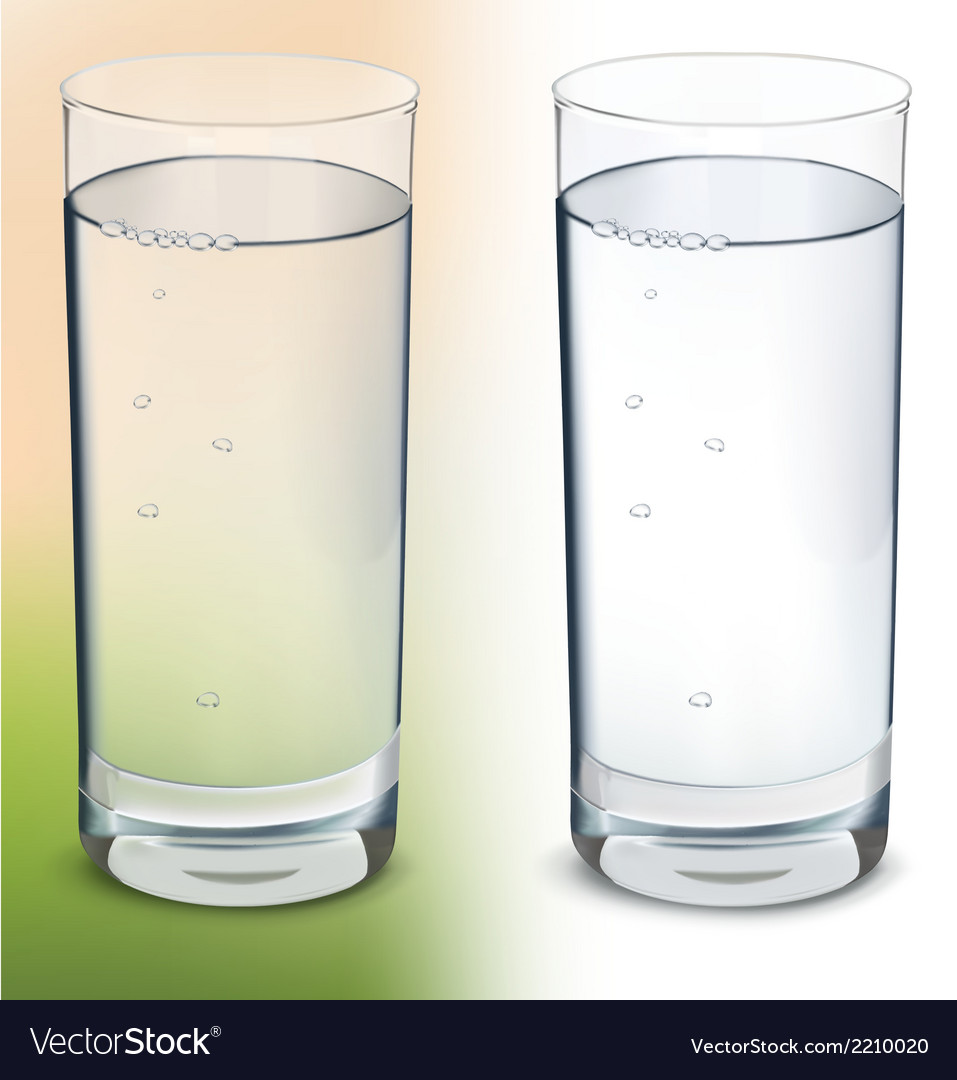 Glass with water isolated vector | Price: 1 Credit (USD $1)