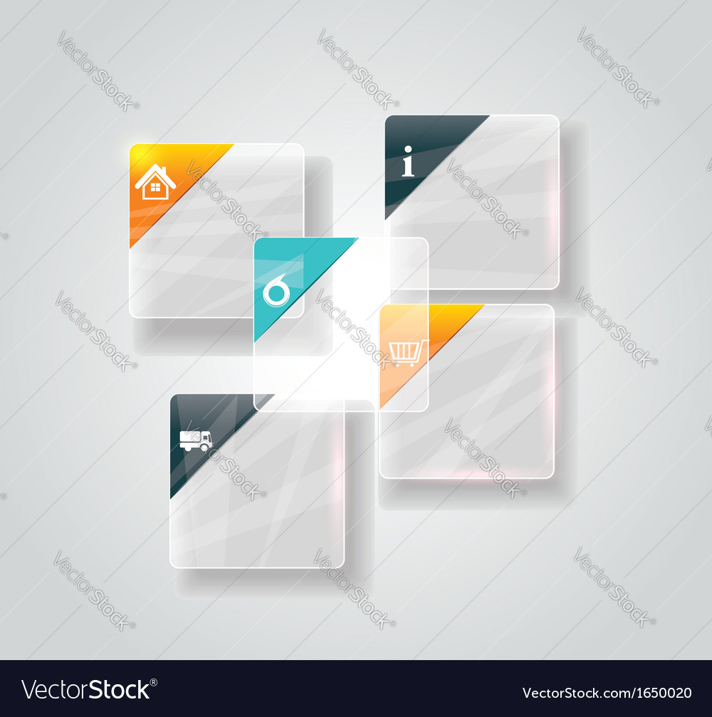 Modern business step glassi style options banner vector | Price: 1 Credit (USD $1)
