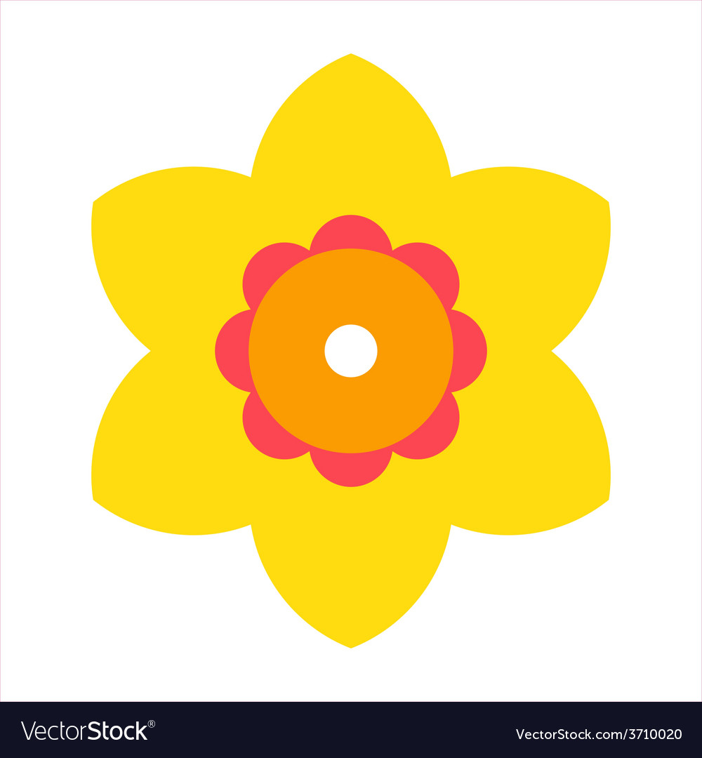 Narcissus - flower icon vector | Price: 1 Credit (USD $1)