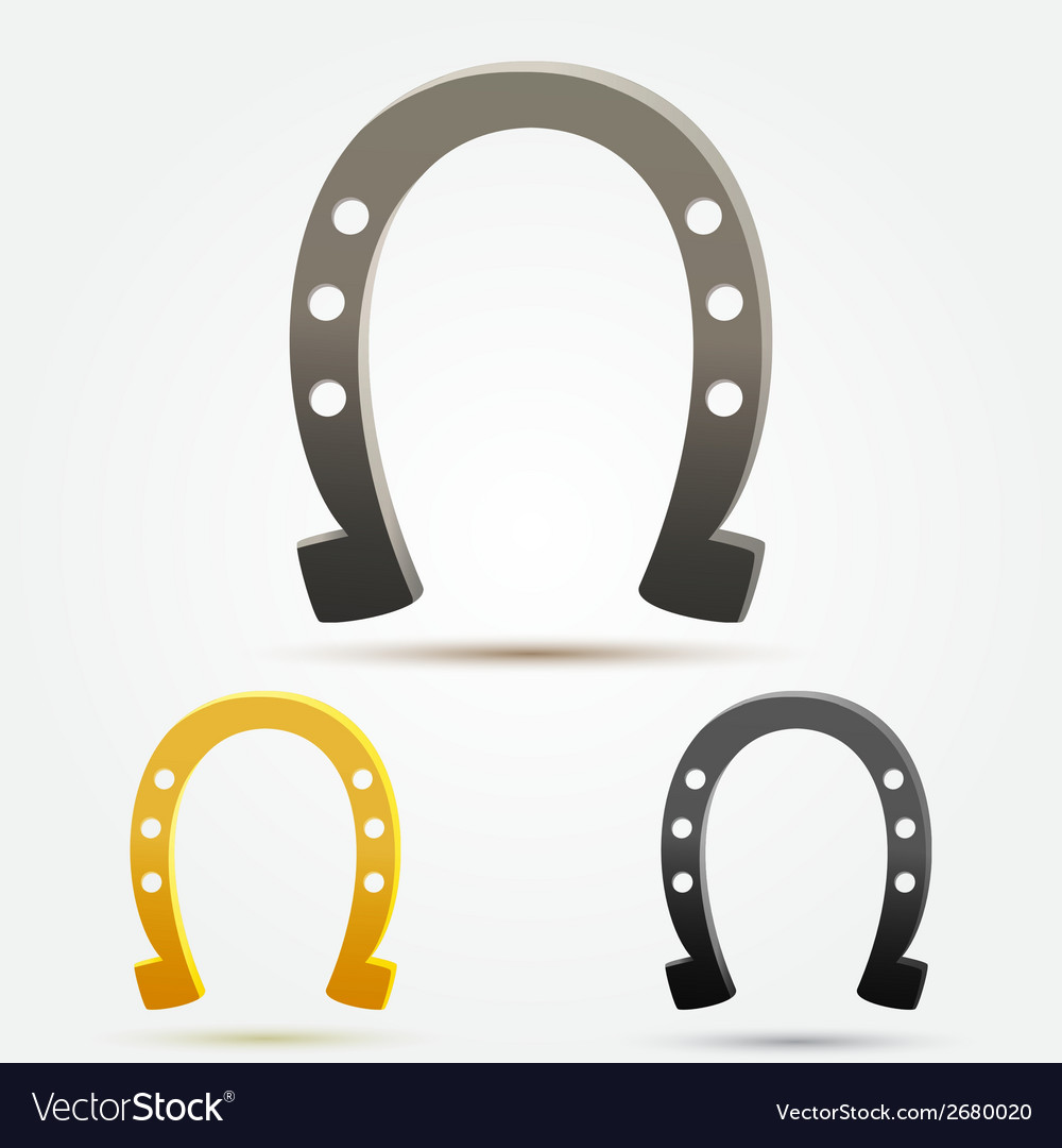 Set of horseshoe icons vector | Price: 1 Credit (USD $1)