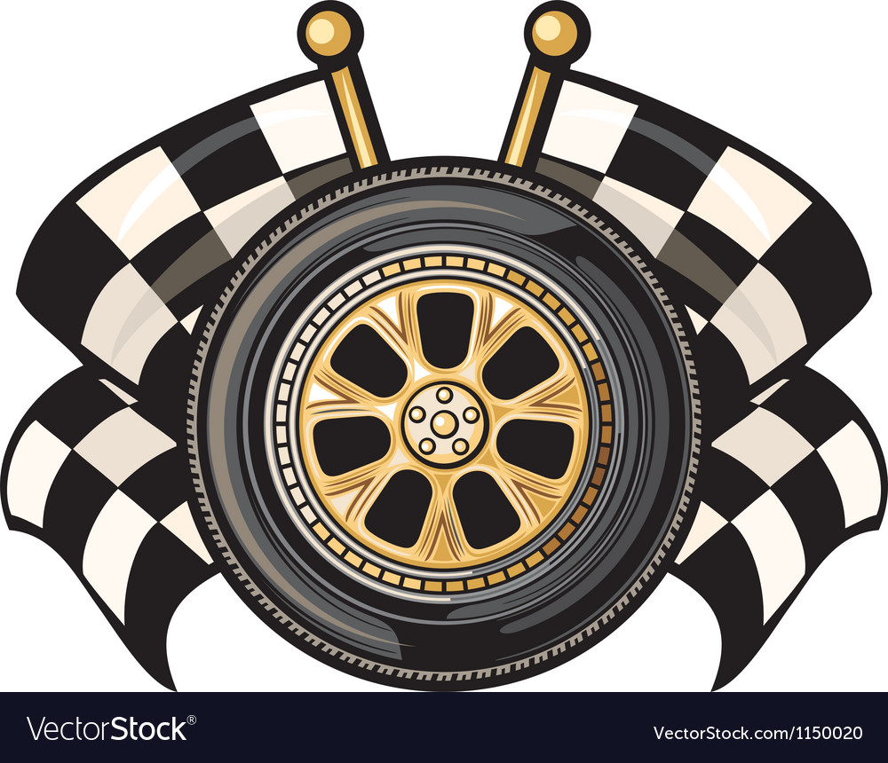 Sports race design- racing checkered flag crossed vector | Price: 1 Credit (USD $1)
