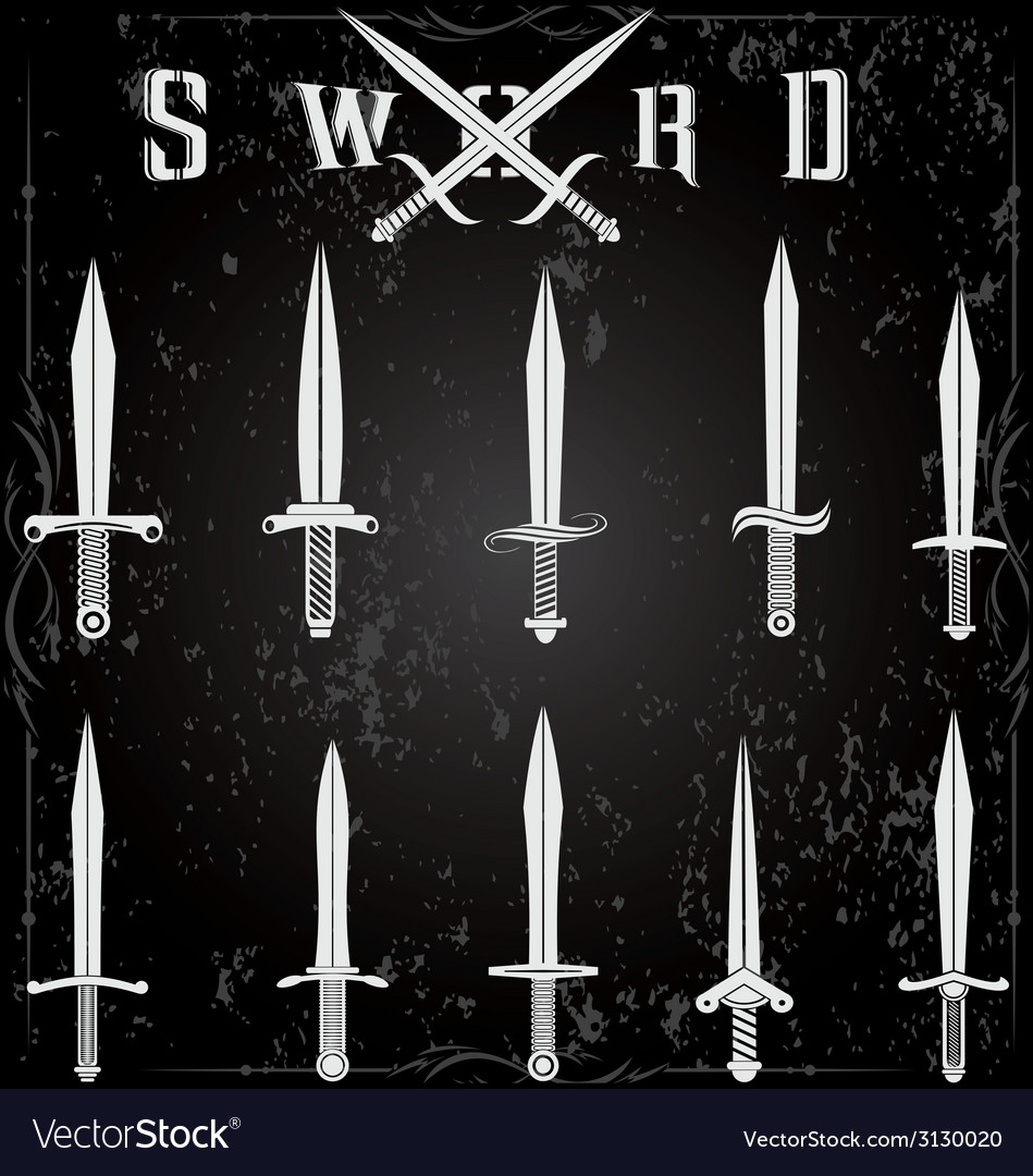 Sword set vector | Price: 1 Credit (USD $1)