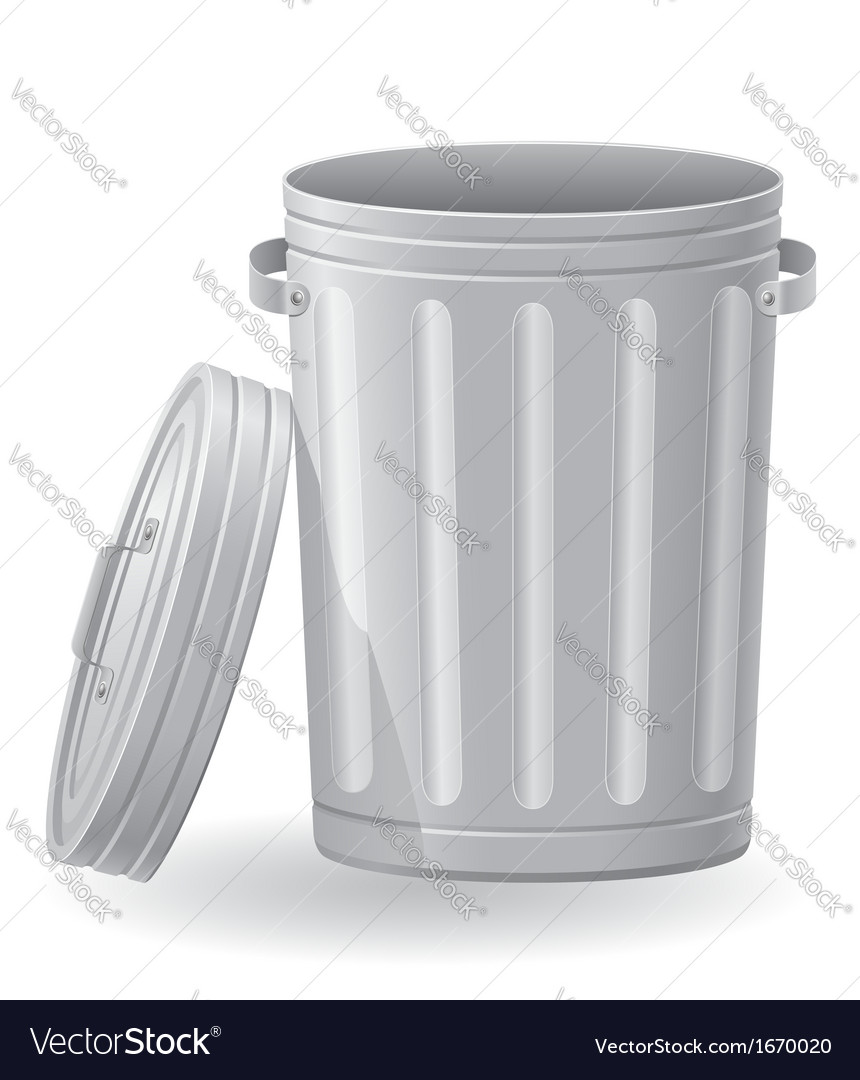 Trash can 02 vector | Price: 1 Credit (USD $1)