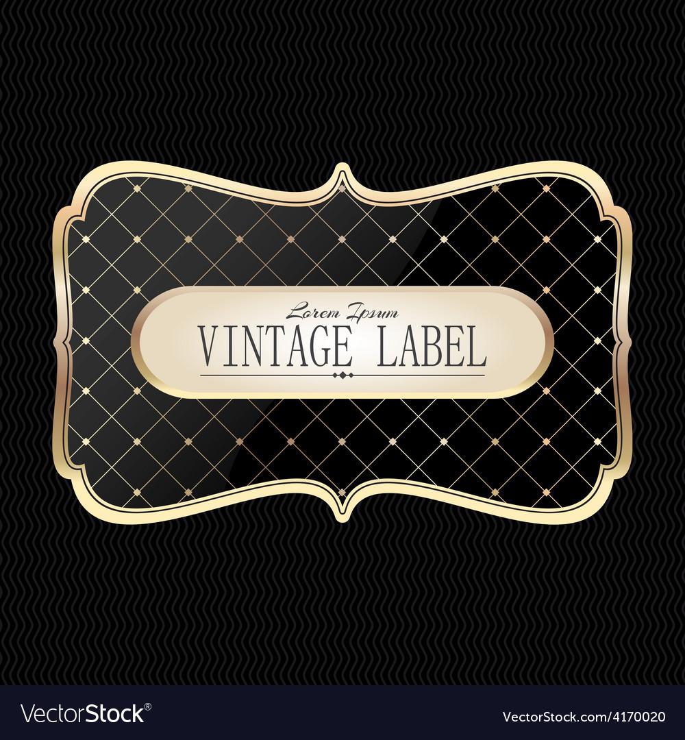 Vintage golden label vector | Price: 1 Credit (USD $1)