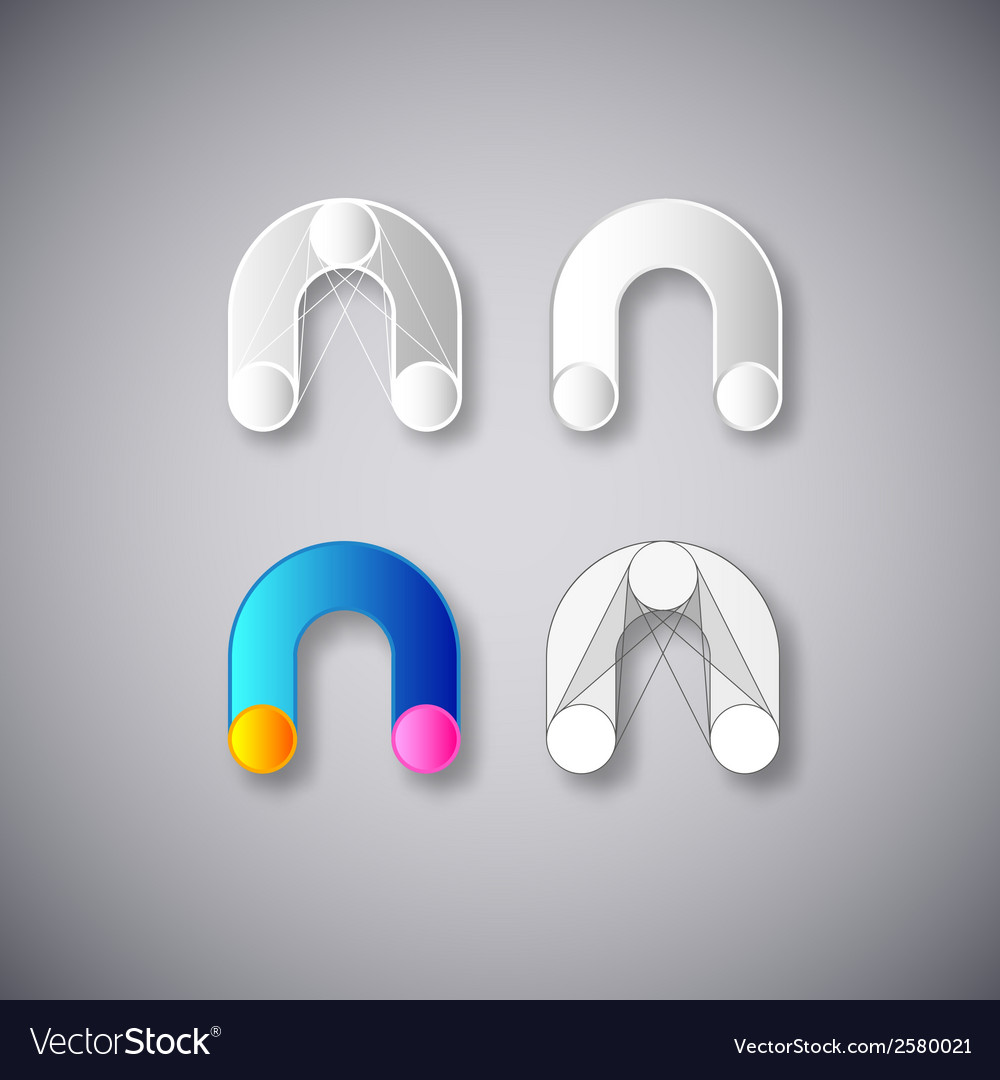 Abstract combination of letter n vector | Price: 1 Credit (USD $1)
