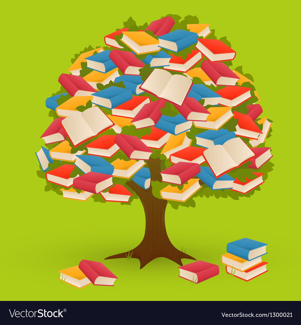 Book tree vector | Price: 1 Credit (USD $1)