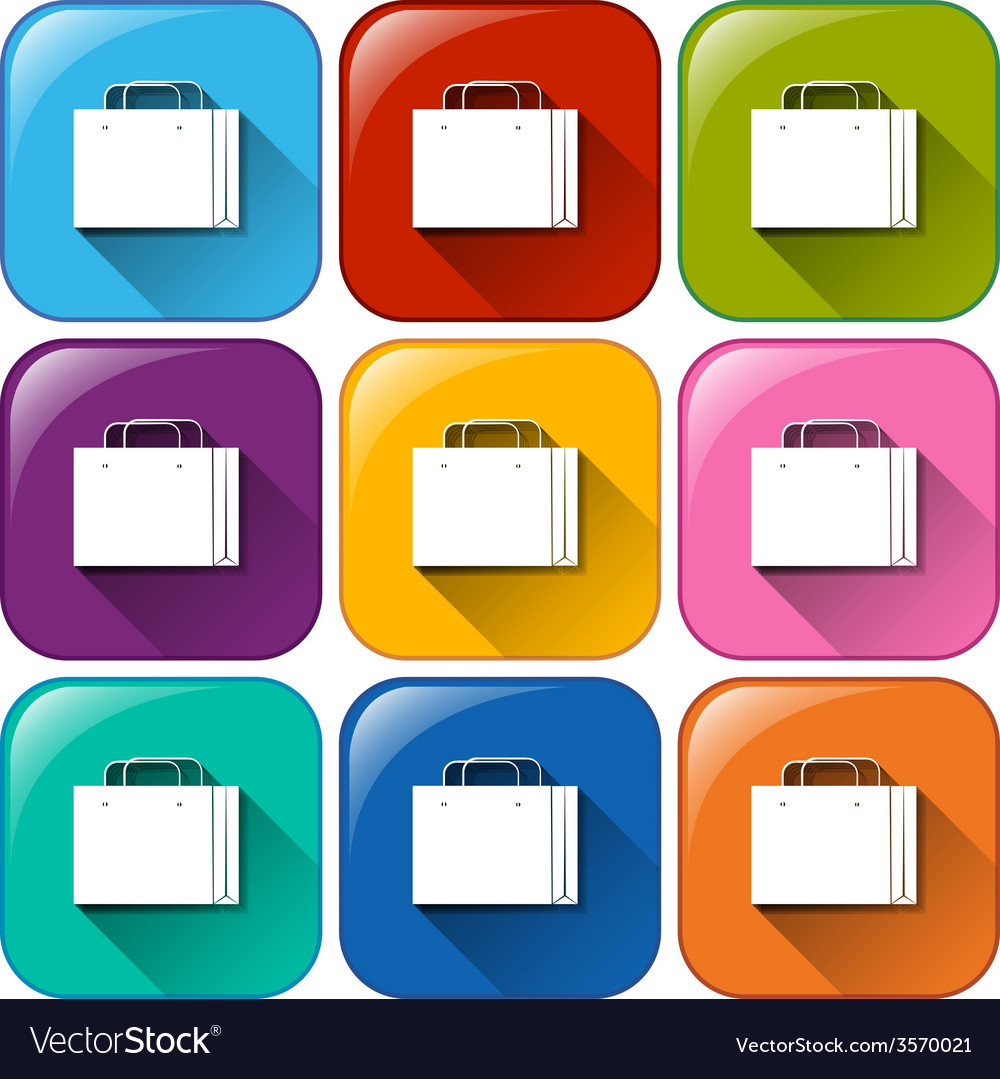 Buttons with shopping bags vector   Price: 1 Credit (USD $1)