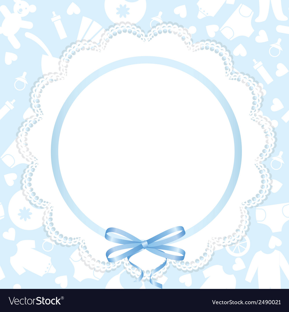 Card with lace ribbon vector | Price: 1 Credit (USD $1)