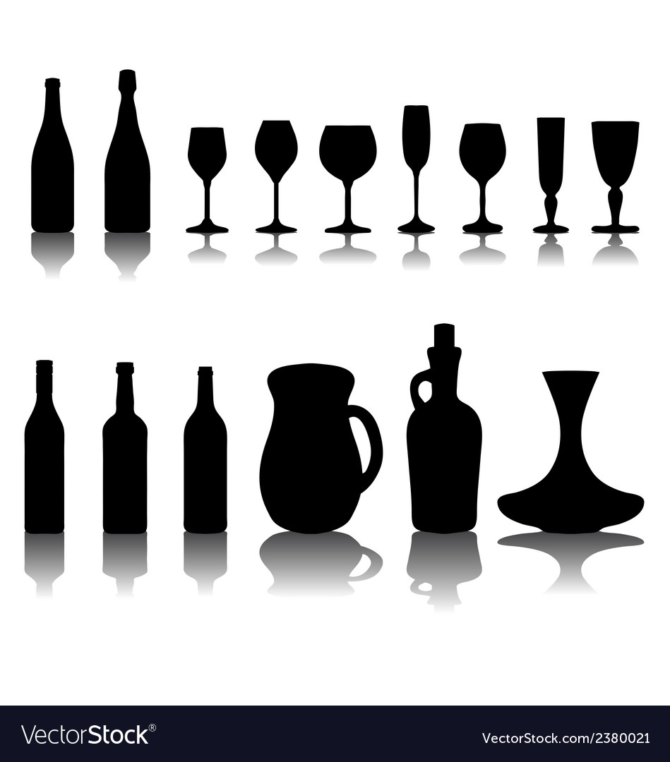 Glasses and bottles 2 vector | Price: 1 Credit (USD $1)