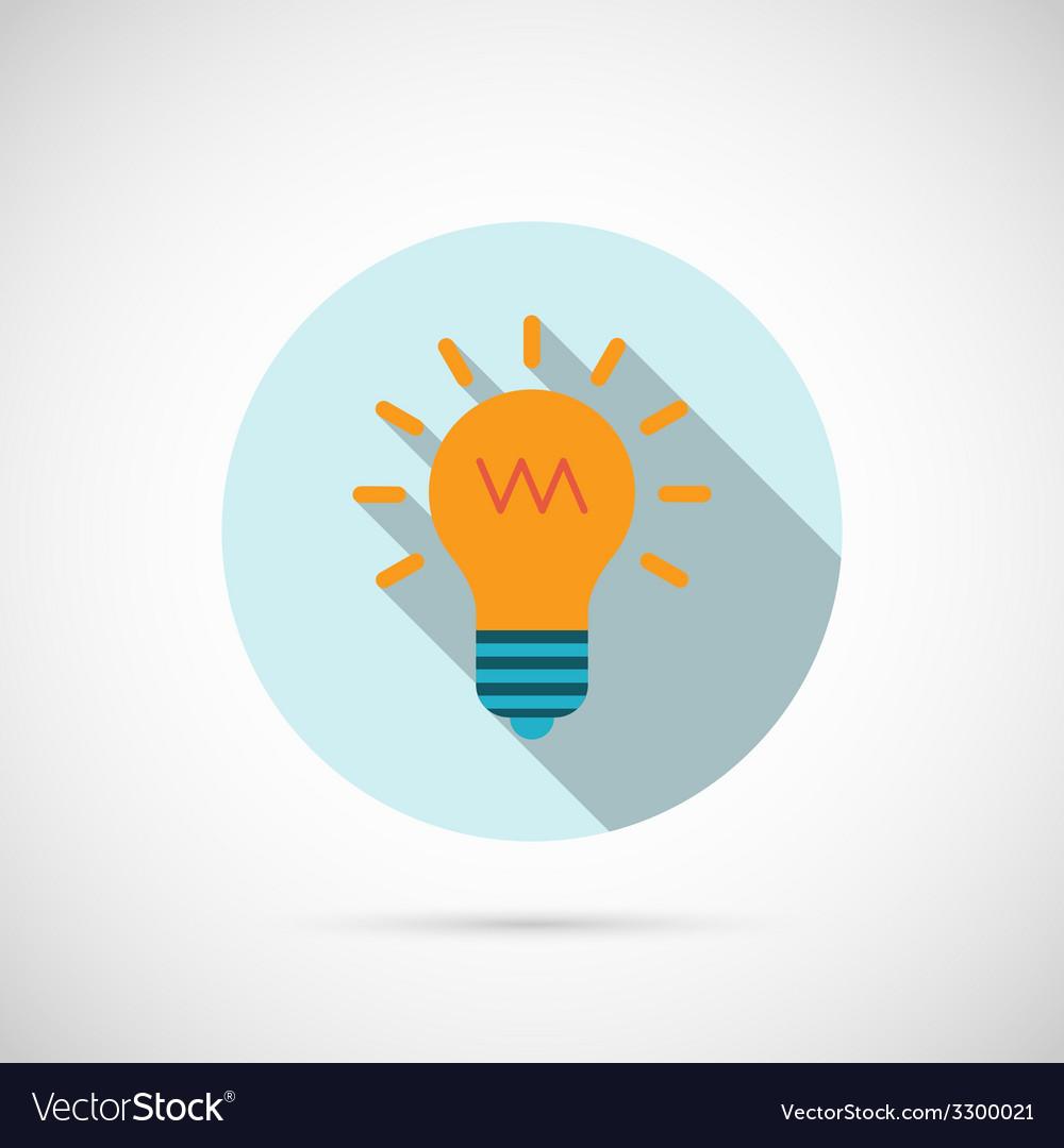 Lightbulb icon vector | Price: 1 Credit (USD $1)