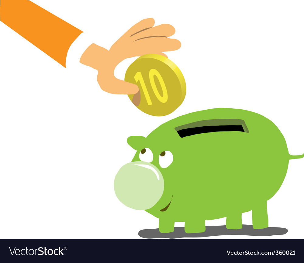 Money in a coin box vector | Price: 1 Credit (USD $1)