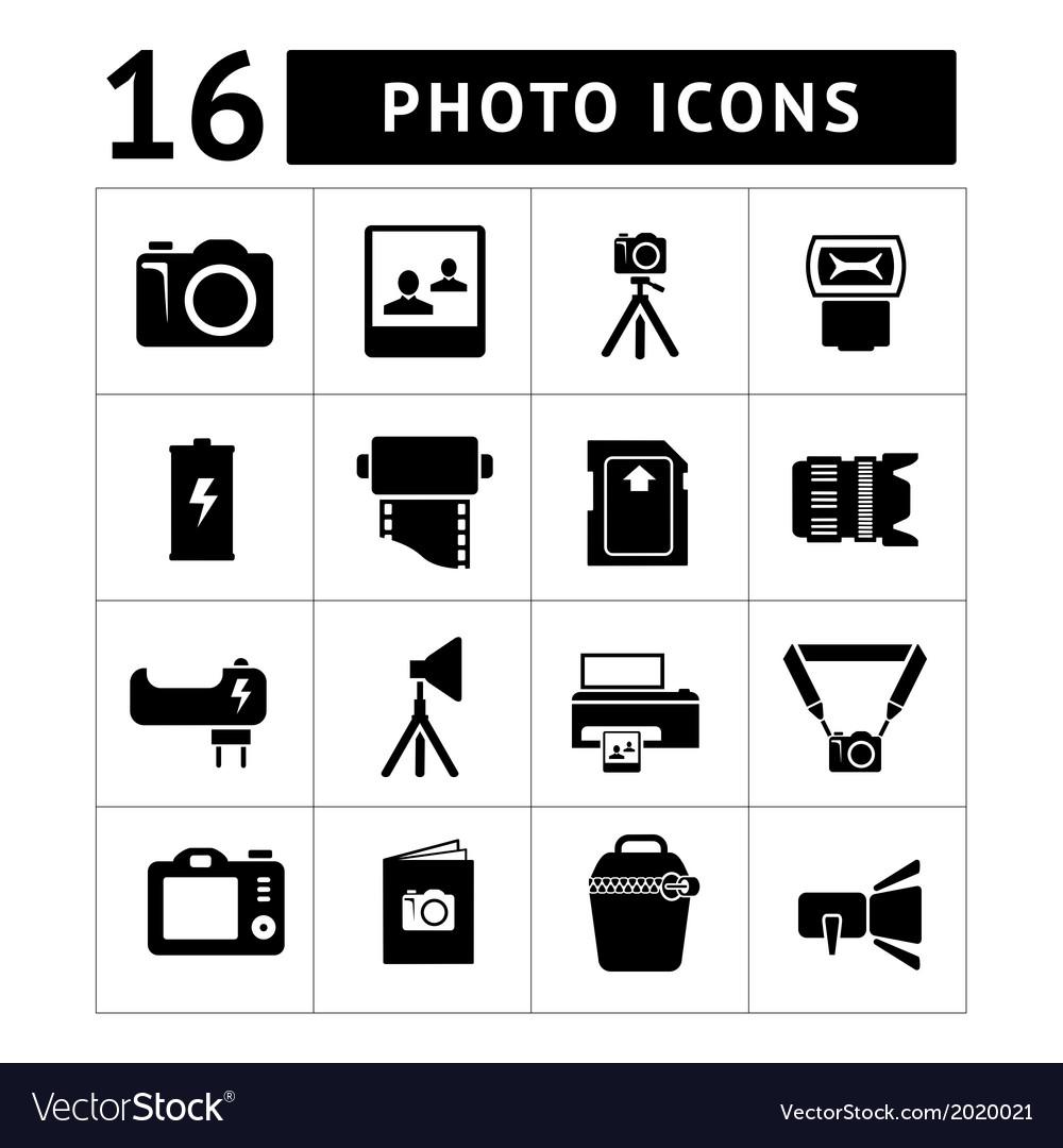 Photo icons vector | Price: 1 Credit (USD $1)