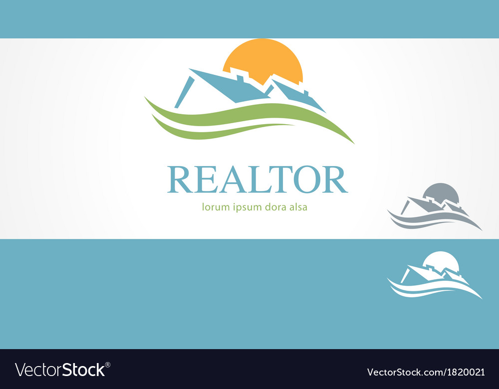 Real estate housing valley logo concept template vector | Price: 1 Credit (USD $1)