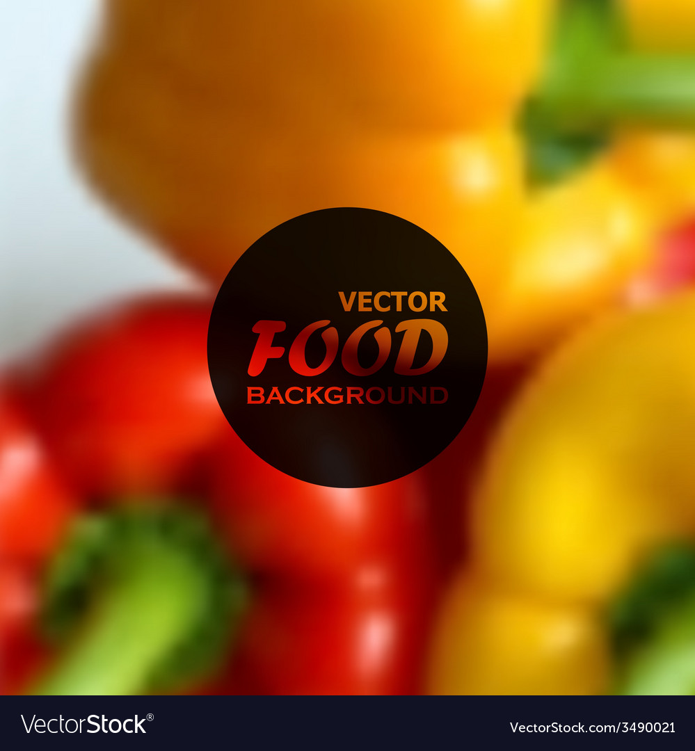 Realistic food background of red and yellow vector | Price: 1 Credit (USD $1)