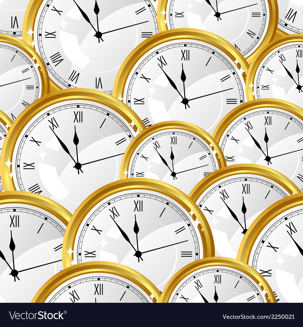 Seamless pattern with watches stylish texture vector   Price: 1 Credit (USD $1)