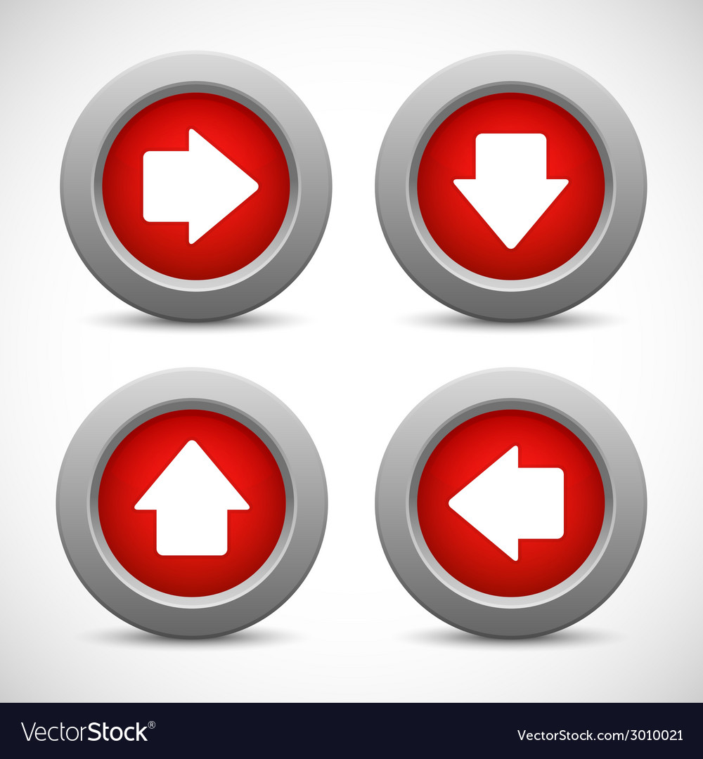 Set of arrow buttons vector | Price: 1 Credit (USD $1)