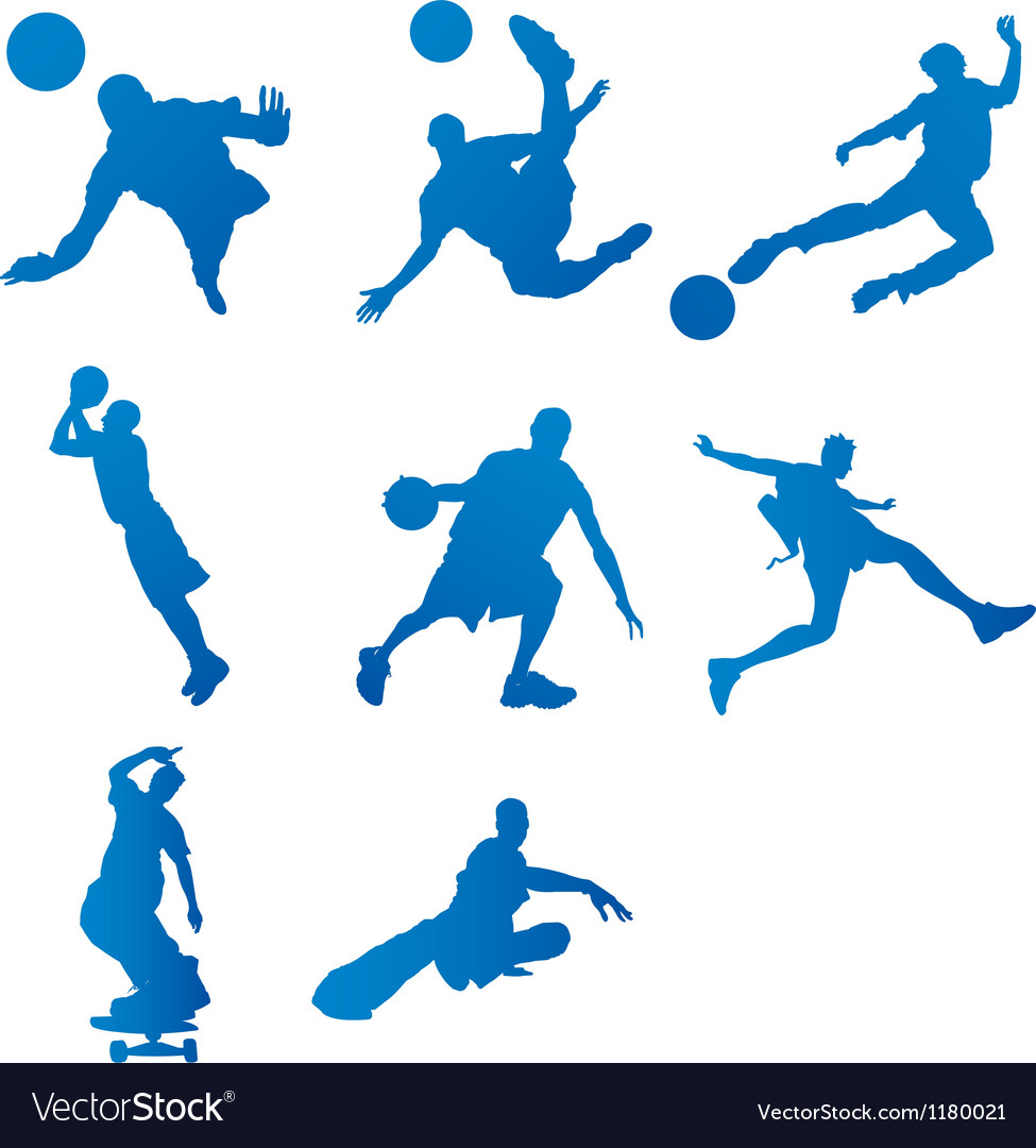 Silhouettes of athletes vector | Price: 1 Credit (USD $1)