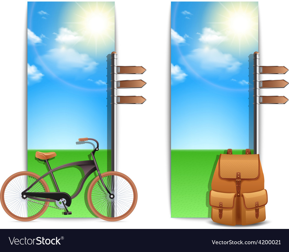 Travel banners vertical vector | Price: 1 Credit (USD $1)