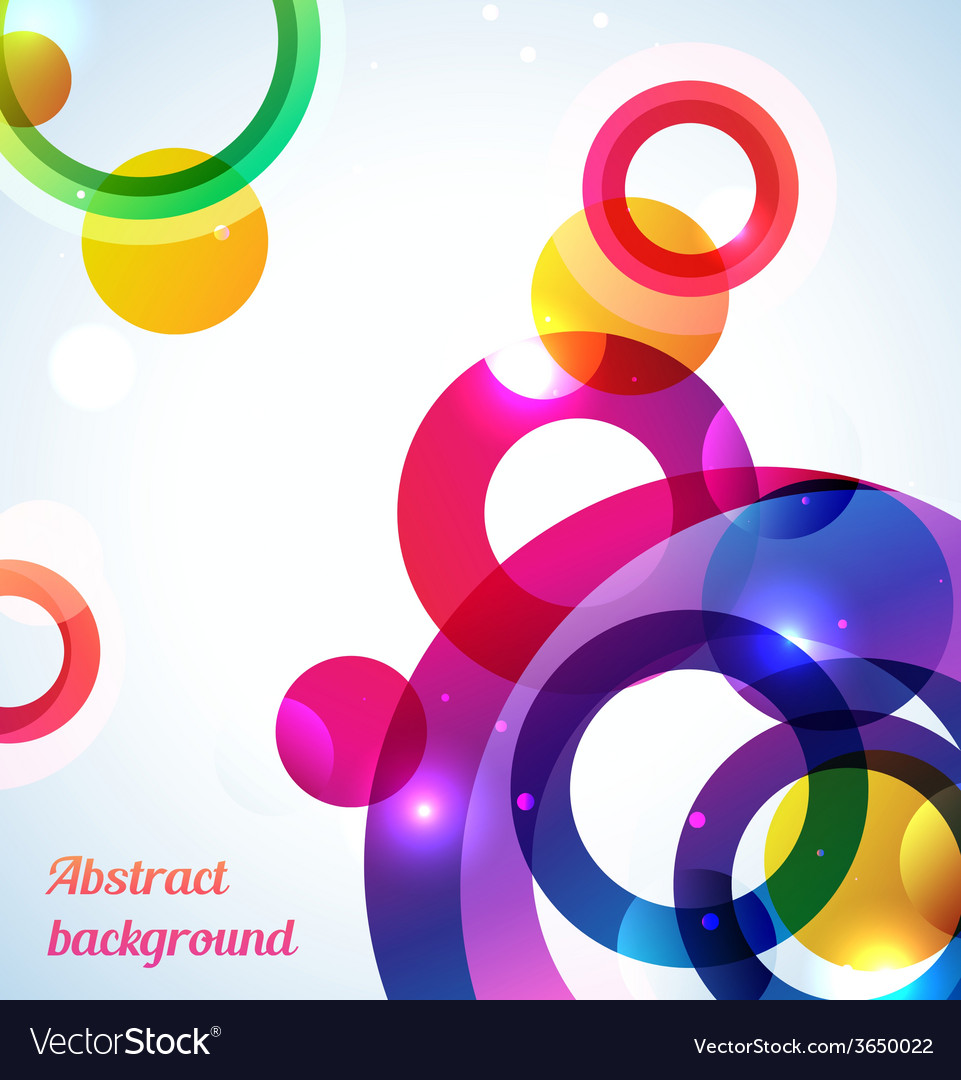 Colorful rings background - vector | Price: 1 Credit (USD $1)