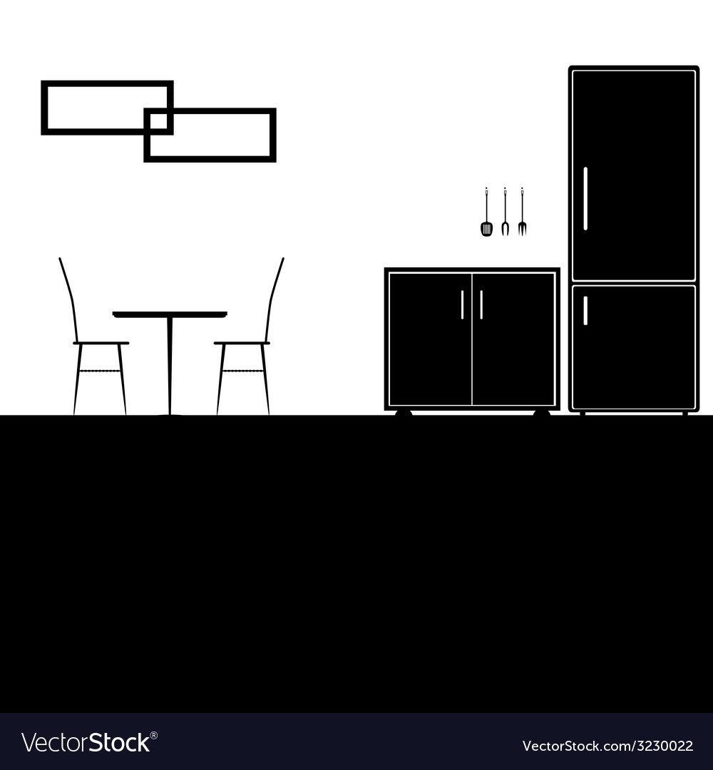 Kitchen black vector | Price: 1 Credit (USD $1)