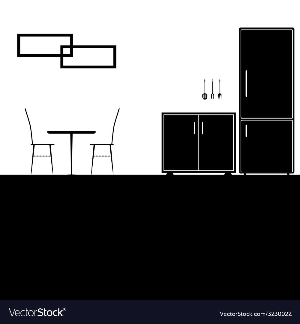 Kitchen black vector