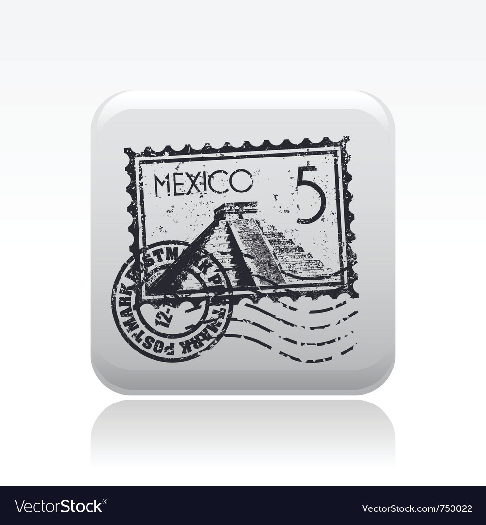 Mexico stamp vector | Price: 1 Credit (USD $1)