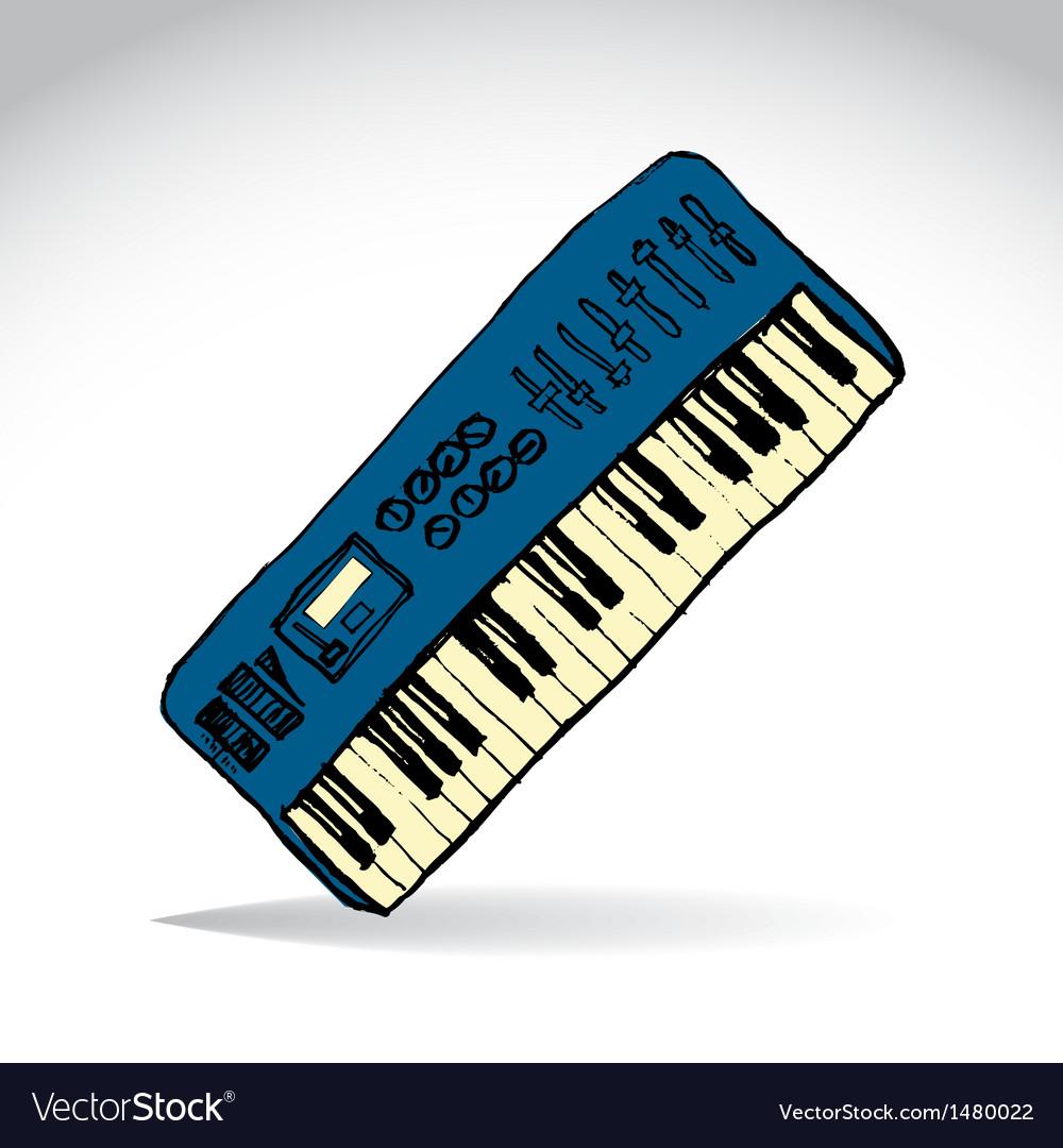 Music keyboard vector   Price: 1 Credit (USD $1)