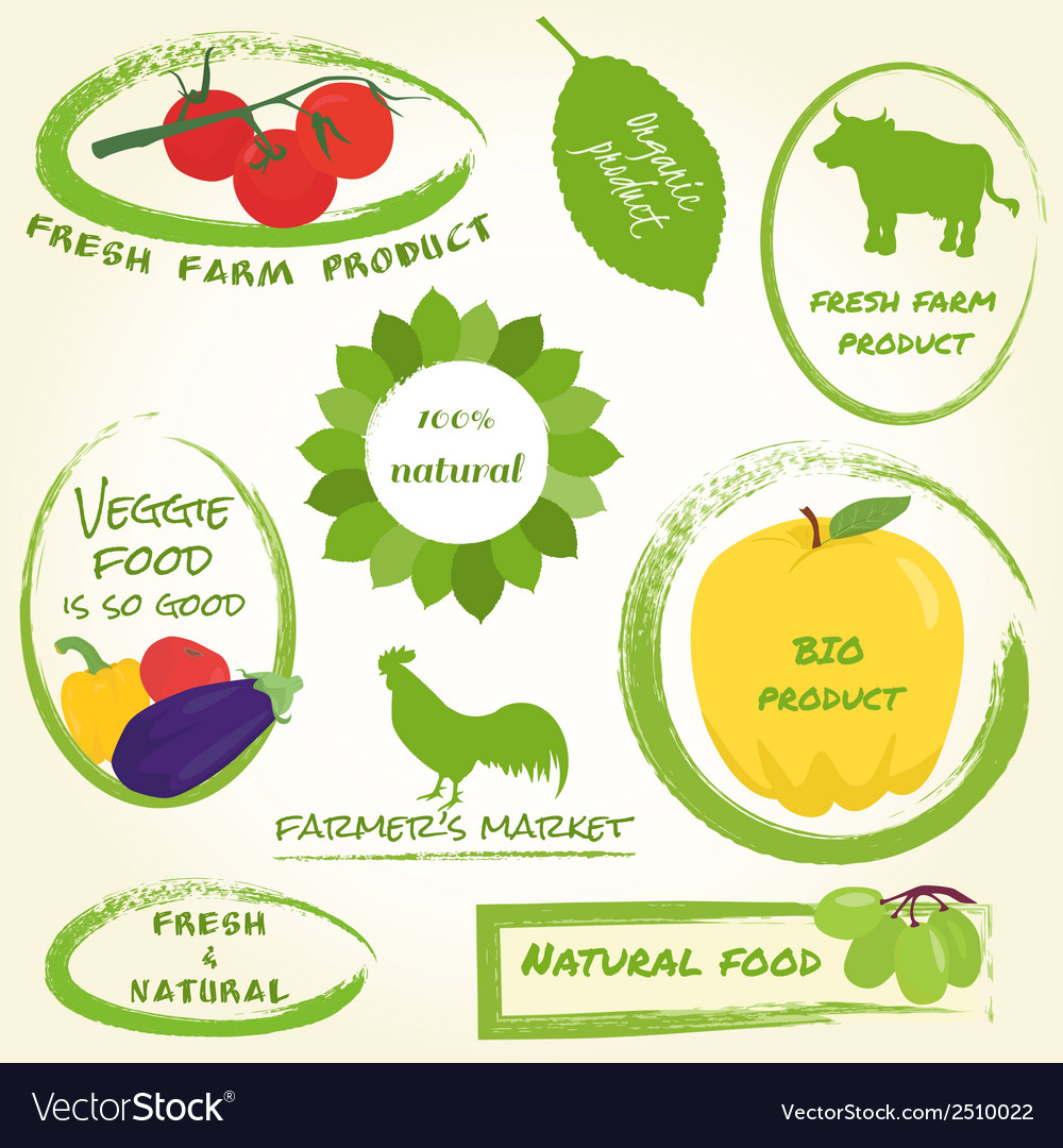 Set of farm labels vector   Price: 1 Credit (USD $1)