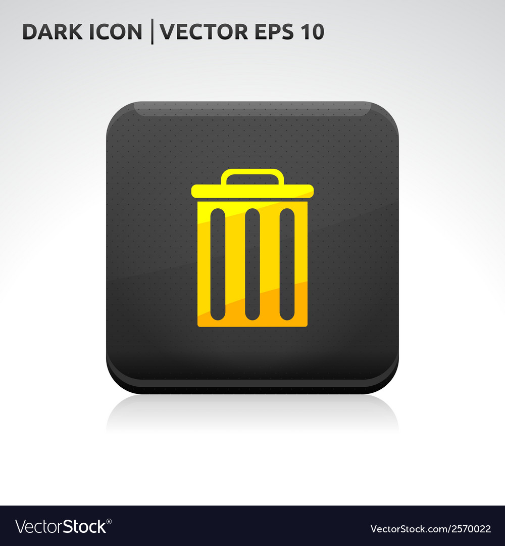 Trash delete remove icon gold vector | Price: 1 Credit (USD $1)