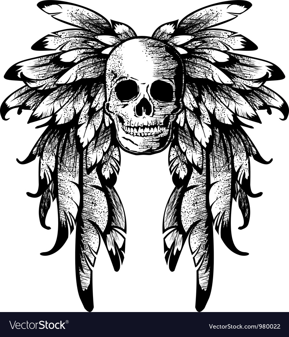 Wings with skull vector | Price: 1 Credit (USD $1)