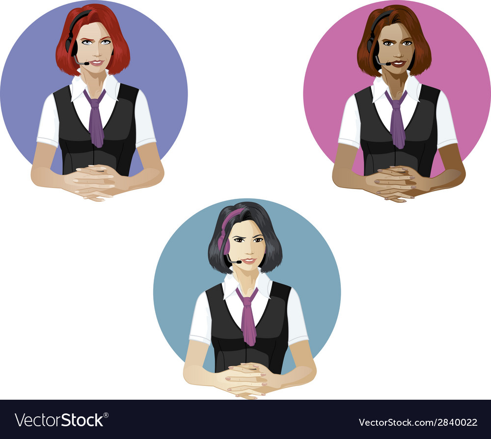 Woman in operator uniform technical support expert vector | Price: 1 Credit (USD $1)