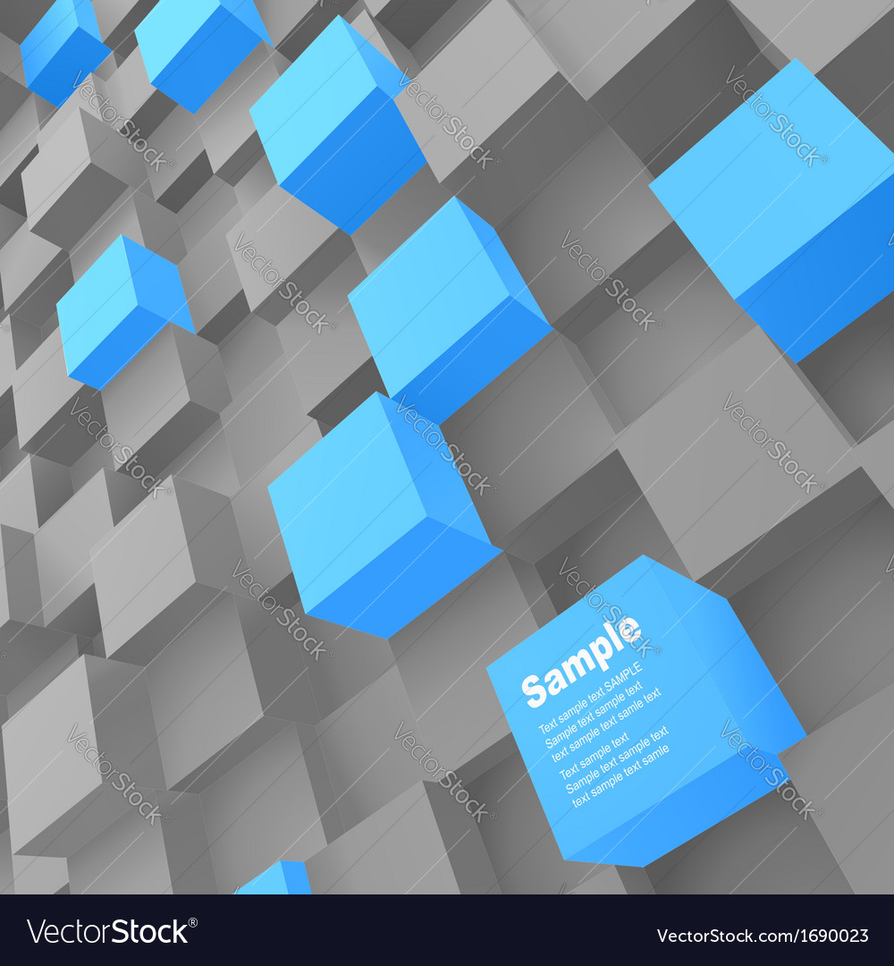 3d blocks structure background vector   Price: 1 Credit (USD $1)