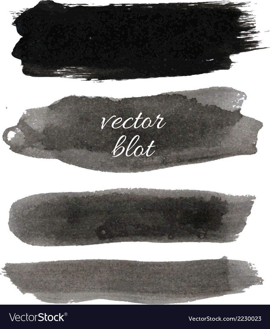 Big black blot collection vector | Price: 1 Credit (USD $1)