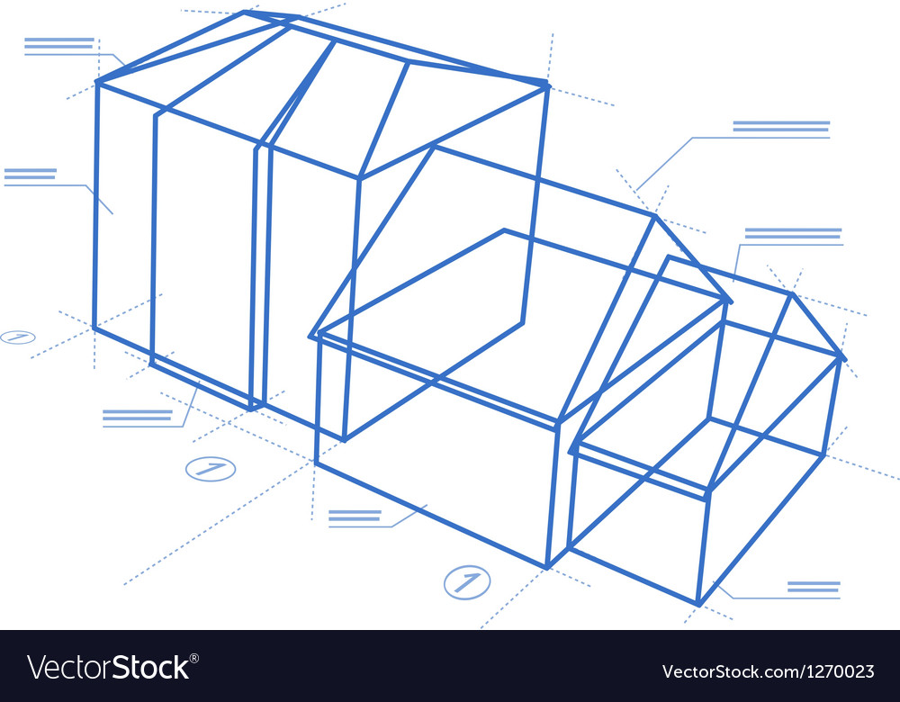 Buildings blueprint vector | Price: 1 Credit (USD $1)