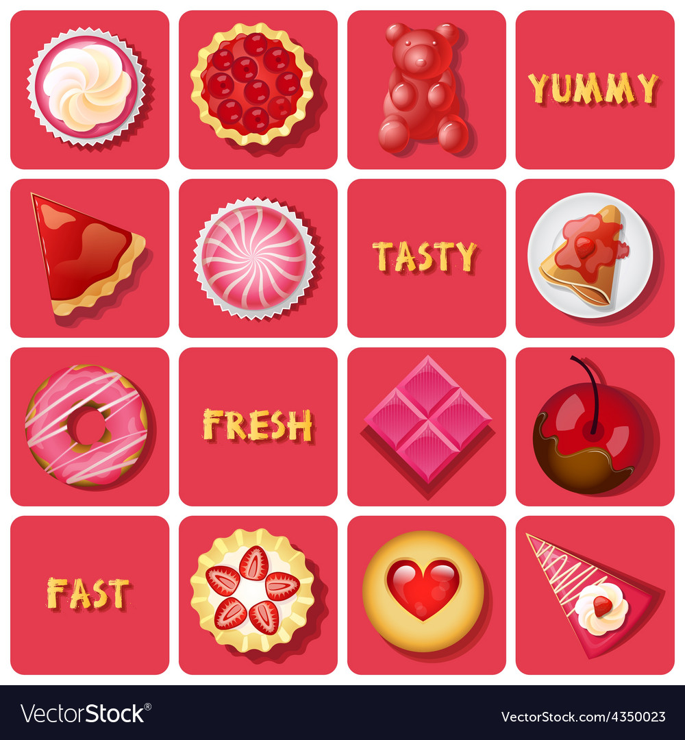 Dessert and baked goods vector | Price: 1 Credit (USD $1)