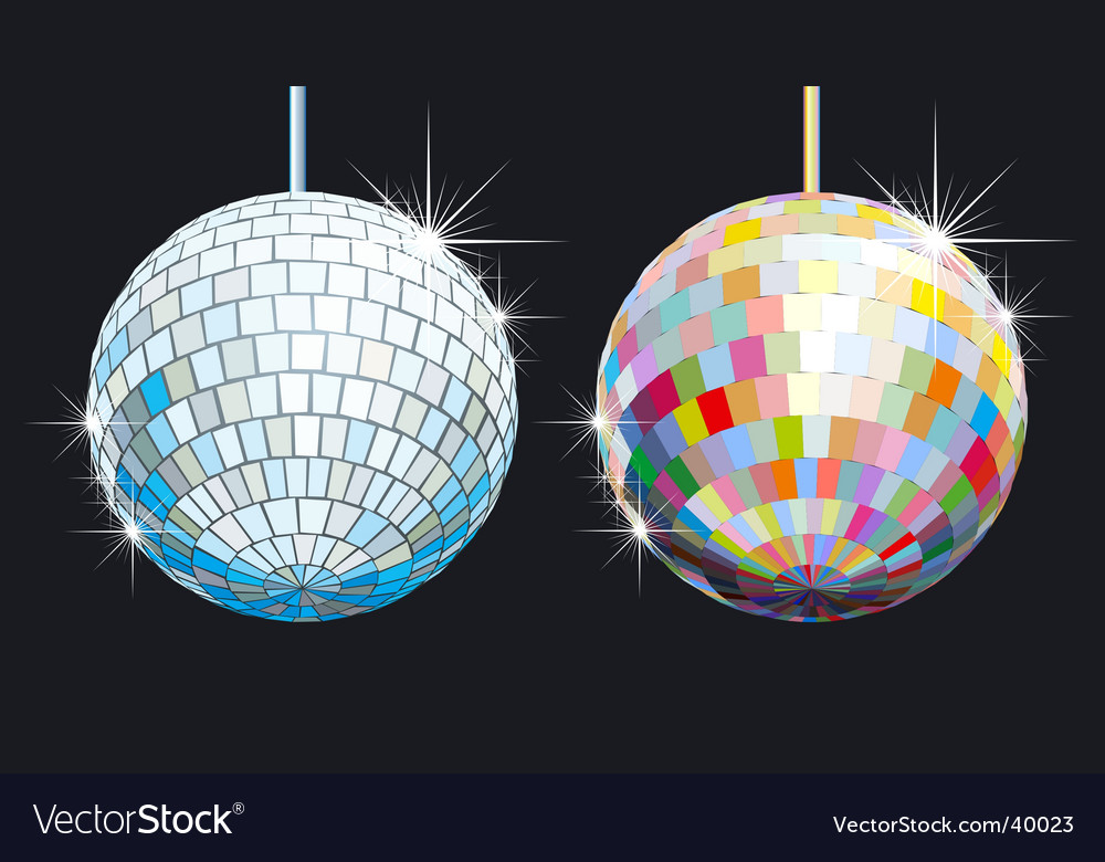Disco balls vector | Price: 1 Credit (USD $1)