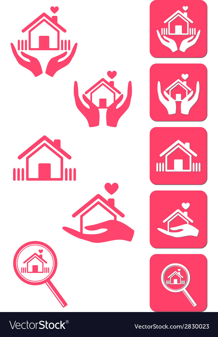 Home icons signs vector | Price: 1 Credit (USD $1)