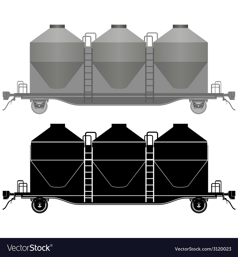 Railway carriage for bulk cargo-2 vector | Price: 1 Credit (USD $1)